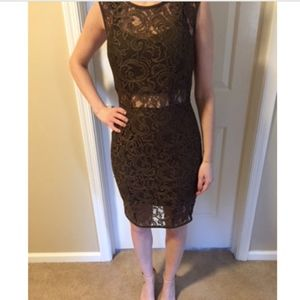 Lace dress with midi detail